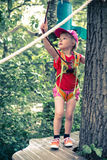 Ropes course Royalty Free Stock Images