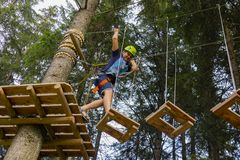 In the Ropes Course royalty free stock photos