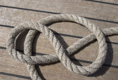 Ropes on a deck Stock Photos