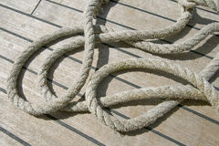 Ropes on a deck Royalty Free Stock Photos