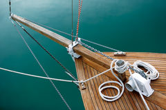Ropes and deck on blue Royalty Free Stock Image