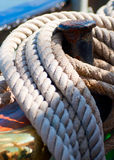 Ropes on deck Royalty Free Stock Photography
