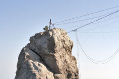 Ropes for extreme climbing Royalty Free Stock Image