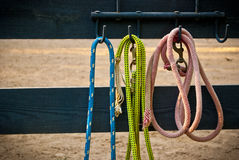 Ropes on fencepost Royalty Free Stock Images