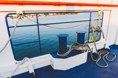 Ropes on a ferry Royalty Free Stock Image
