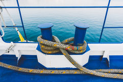 Ropes on a ferry Stock Images