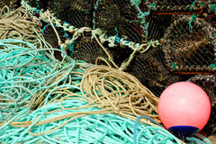 Ropes and fish traps Royalty Free Stock Image