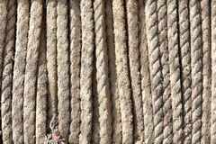 Ropes from fishing nets Stock Photo