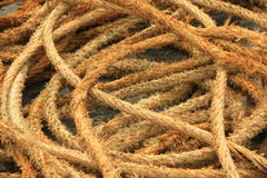 Ropes. In a fishing port in Brittany, France Stock Image