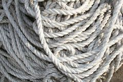 Ropes of a ship in detail, travel industry  Stock Photo