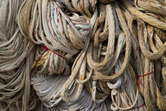 Ropes hanging to dry Stock Image