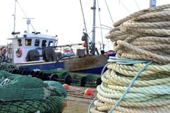 Ropes in the harbor Stock Photography
