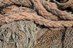 Ropes at the Harbor Royalty Free Stock Photography