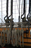 Ropes on the HMS Victory  in Portsmouth harbor, Hampshire, Engla Stock Photos