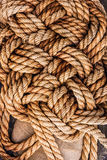 Ropes jute tackle background natural Royalty Free Stock Photography