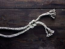 Ropes with knot Royalty Free Stock Photo
