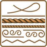 Ropes and knots. Vector Illustration Royalty Free Stock Images