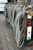 Ropes and Lines on Tall Ship Royalty Free Stock Images