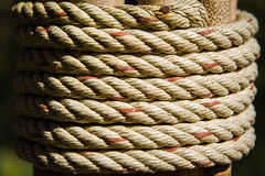 The Ropes made of jute. Royalty Free Stock Images
