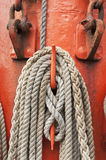 Ropes and mast Royalty Free Stock Images