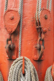 Ropes and mast Stock Image
