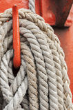 Ropes and mast Stock Photo