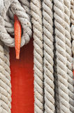 Ropes and mast details Royalty Free Stock Photo