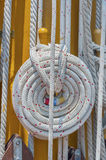 Ropes and mast details Royalty Free Stock Image