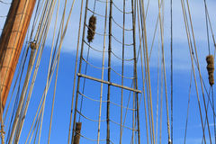 The ropes of the mast Stock Photos