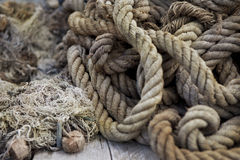 Ropes and nets Royalty Free Stock Images