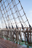 Ropes on an old vessel, sailing Stock Image