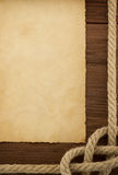 Ropes and old vintage paper Royalty Free Stock Image