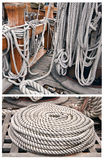 Ropes on an old yacht Stock Image