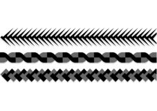 Ropes pattern brushes. Seamless nautical rope and chain stripes isolated on background. royalty free illustration