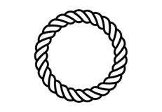 Ropes pattern brushes. Seamless nautical rope and chain stripes isolated on background. vector illustration