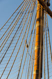 Ropes on the pirate ship Royalty Free Stock Photos