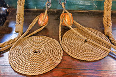 Ropes and Pulleys Royalty Free Stock Photos