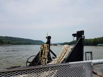 Ropes on River Ferry Crossing royalty free stock photos