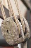 Ropes on a sail boat Royalty Free Stock Images