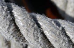 Ropes of sailboat stock photography