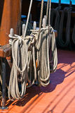 Ropes of sailing boat Royalty Free Stock Image
