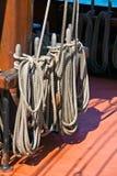 Ropes of sailing boat Royalty Free Stock Image