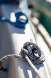 Ropes on sailing boat Royalty Free Stock Images