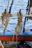 Ropes on a Sailing Boat Stock Photo