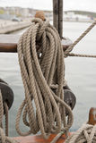 Ropes on Sailing Ship Stock Photography