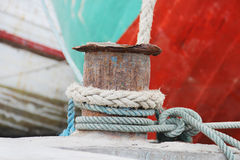 Ropes on a sailing ship Stock Photography
