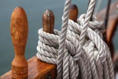 Ropes on sailing ship Stock Image