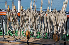 Ropes for the sails Stock Image