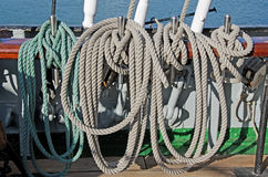 Ropes for the sails Stock Images