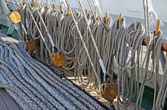 Ropes for the sails Royalty Free Stock Images